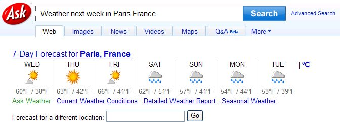 Weather Paris